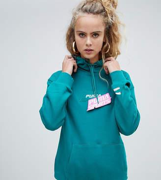 Puma exclusive organic cotton green velcro badge hoodie