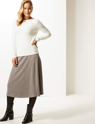 Marks and Spencer Textured Midi Skirt
