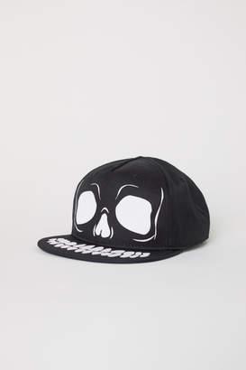 H&M Cap with Applique - Black