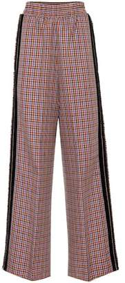 Golden Goose Check wool-blend trousers