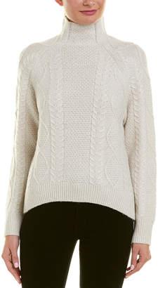 Vince Cable-Knit Wool & Cashmere-Blend Turtleneck
