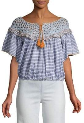 Free People Allora Striped Blouse