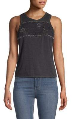Free People Window Lace-Trimmed Tank Top