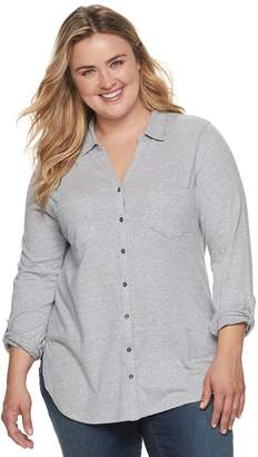 Sonoma Goods For Life Plus Size SONOMA Goods for Life Button-Down Utility Shirt
