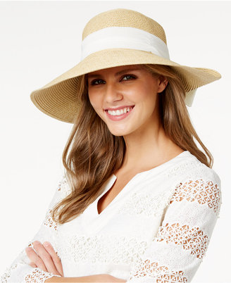 Nine West Scarf-Band Packable Sun Hat $42 thestylecure.com