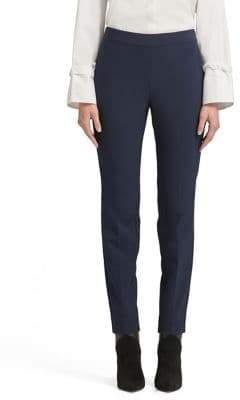 Donna Karan Straight-Leg Side Zip Pants