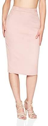 Velvet Rope Women's Sueded Tight Knit Midi Skirt