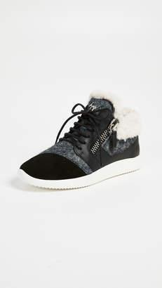 Giuseppe Zanotti Faux Fur Lined Sneakers