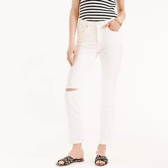 J.Crew Vintage straight jean in white with raw hems