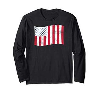 USA Civil Flag of Peacetime Long Sleeve T-shirt Stripes