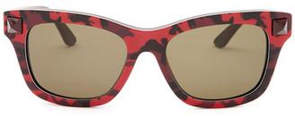 Valentino Women&s Rockstud Camo Sunglasses $376 thestylecure.com