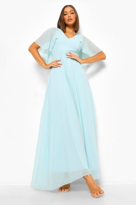 boohoo Chiffon Cape Detail Maxi Dress