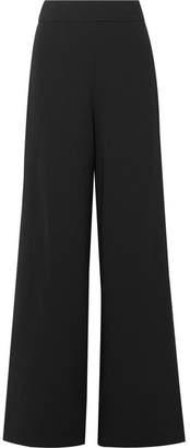 Herve Leger Grosgrain-trimmed Crepe Wide-leg Pants - Black