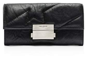 Zadig & Voltaire Compact Large Square Leather Wallet