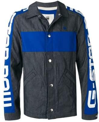 63353111cf1 G Star Research stamped sleeves denim jacket