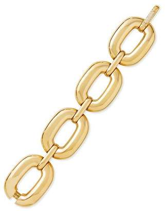 Roberto Coin Bold Yellow Gold Large-Link Bracelet with Diamond Clasp