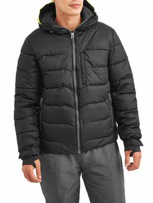 Iceberg Men's Anchor Snow Coat Insulated Performance Board Jacket with Tech Snowskirt, up to size 3XL