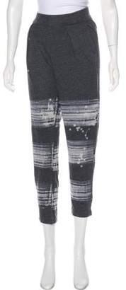 Raquel Allegra Abstract Print Straight-Leg Sweatpants