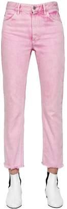 Etoile Isabel Marant Raw Cut Hem Cotton Denim Jeans