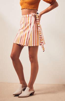 MinkPink Barbados Wrap Skirt