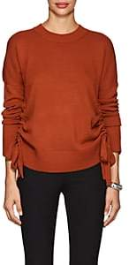 Derek Lam 10 Crosby WOMEN'S RUCHED CASHMERE SWEATER-ORANGE SIZE M