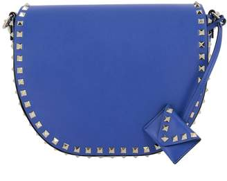 Valentino GARAVANI Tote Bags Rockstud Bag In Genuine Smooth Leather With Metal Studs And Shoulder Strap