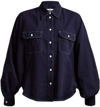MM6 MAISON MARGIELA Dolman-sleeved cotton-denim shirt