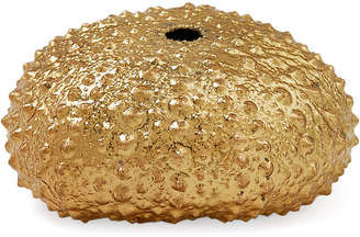 One Kings Lane Large 18-Kt Gold-Plated Green Sea Urchin