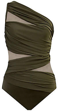 Miraclesuit Swim Women's Network Jena Ruched One-Shoulder One-Piece Swimsuit