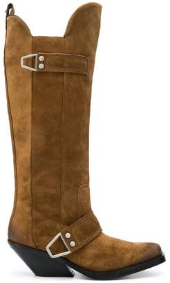Diesel knee-high cowboy boots