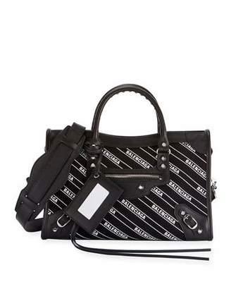 Balenciaga Classic City Small AJ Logo-Print Leather Tote Bag