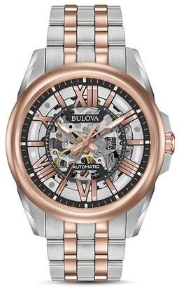 Bulova Automatic Skeleton Watch, 43mm