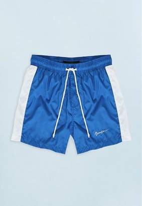 c2457937ae52 Mennace Blue Swim Short with White Side Panel