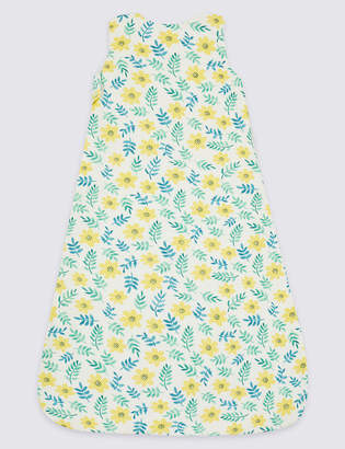 Marks and Spencer Organic Cotton 1.5 Tog Floral Sleeping Bag