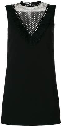 Miu Miu crystal embellished shift dress