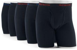 Men's Fruit of the Loom Signature 5-pack Dri-Stretch Boxer Briefs $38 thestylecure.com