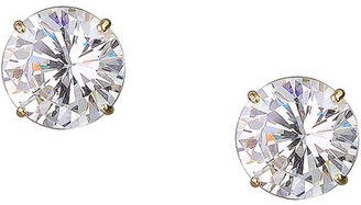 Brilliance+ Brilliance Fine Jewelry 10kt Yellow Gold 8mm Round CZ Stud Earrings