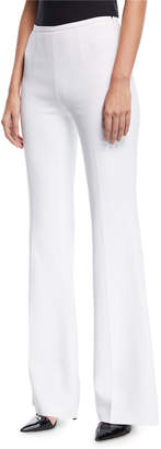 Michael Kors High-Rise Double-Crepe Flared-Leg Pants