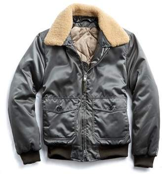 Todd Snyder Golden Bear + Exclusive Shearling Collar Bomber in Olive