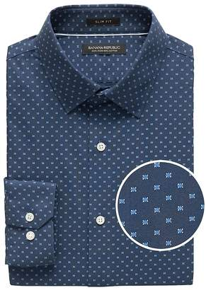 Banana Republic Grant Slim-Fit Non-Iron Print Shirt