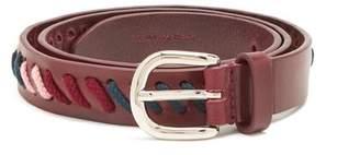 Isabel Marant - Zitty Lace Embellished Leather Belt - Womens - Burgundy