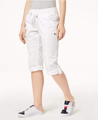 Tommy Hilfiger Cotton Drawstring Capri Pants