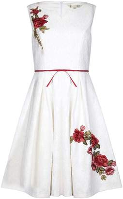 Yumi Bonded Lace Floral Embroidered Party Dress