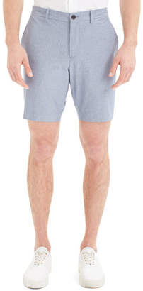 Theory Men's Evan Oxford Striped Shorts