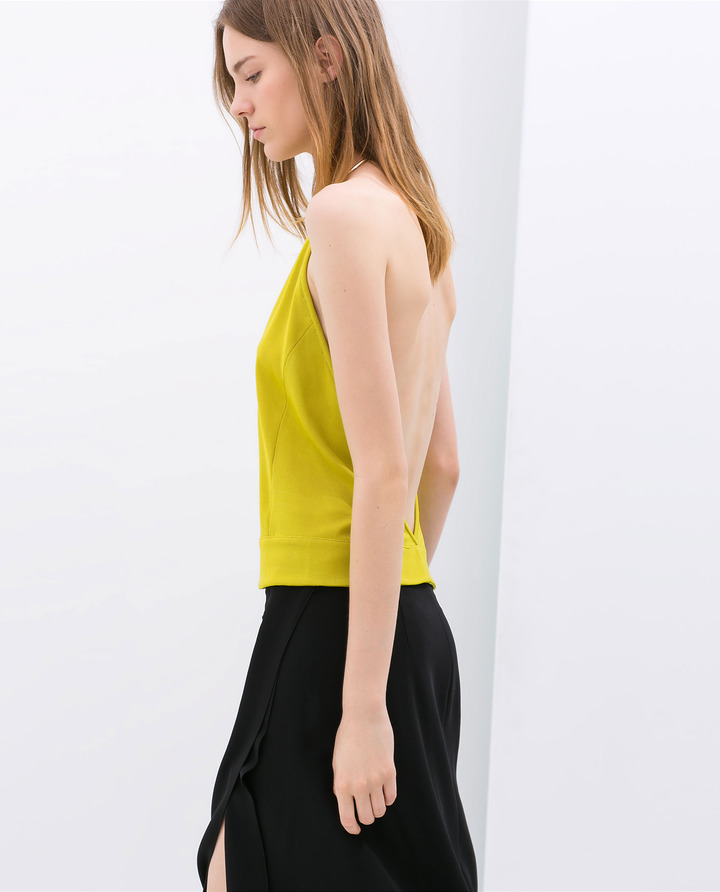 Zara Top With Neck Ring