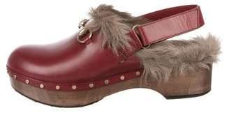 Gucci Leather Horsebit Clogs