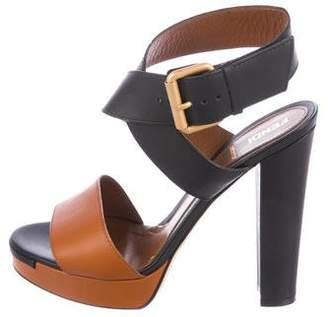 Fendi Bi-Color Platform Sandals