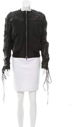 Haider Ackermann Lace-Up Leather Jacket w/ Tags