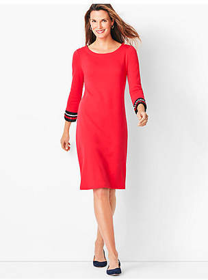 Talbots Pleated-Cuff Shift Dress