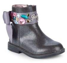 Juicy Couture Little Girl's & Girl's Satin Gem Bow Booties